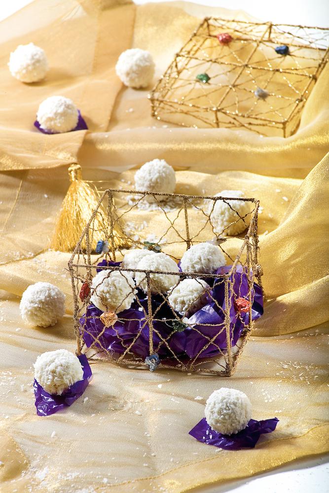 Plätzchen-Adventskalender: Schneebällchen