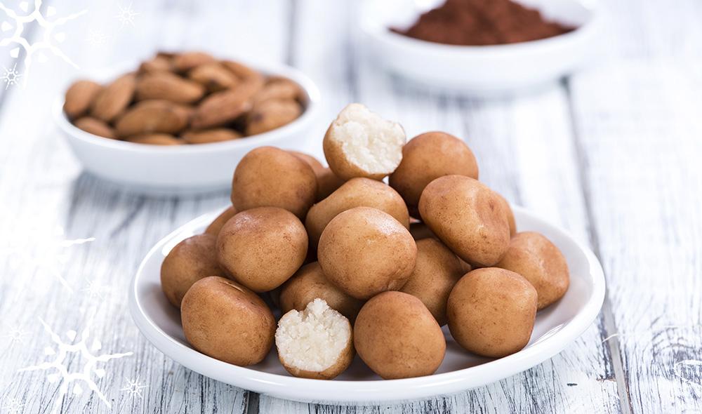 Plätzchen-Adventskalender: Marzipankartoffeln